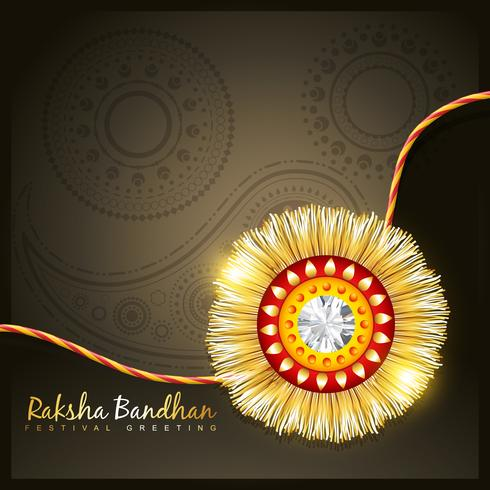 rakhi dourado vetor