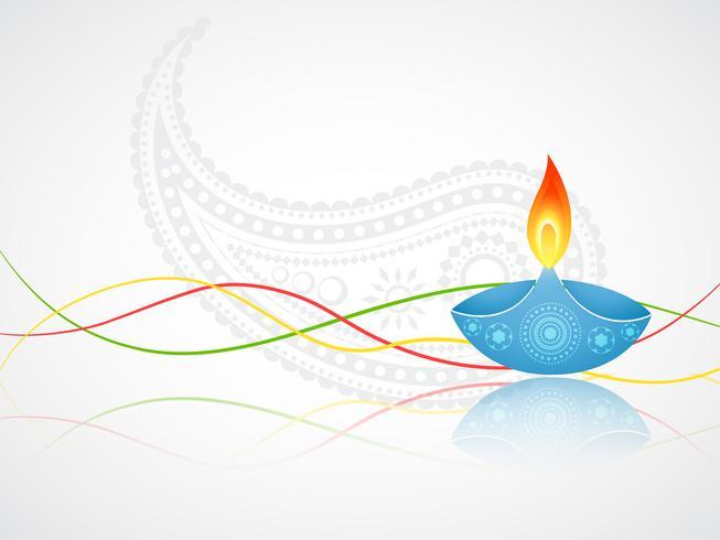 saudação de diwali vetor
