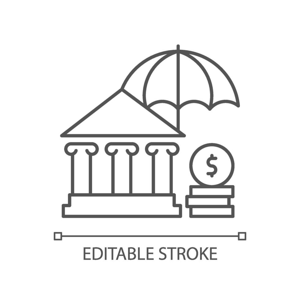 ícone de seguro social linear vetor