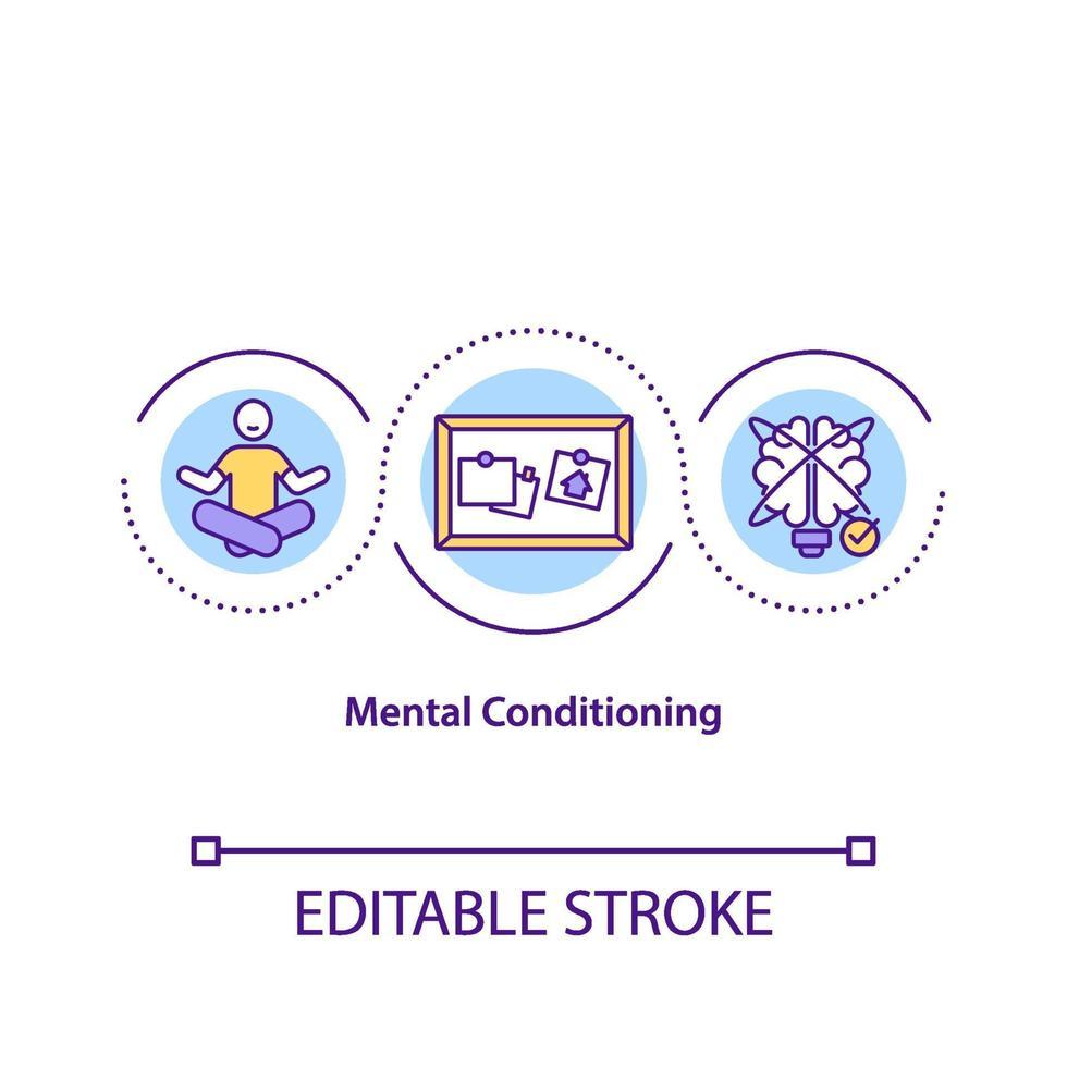 ícone do conceito de condicionamento mental vetor