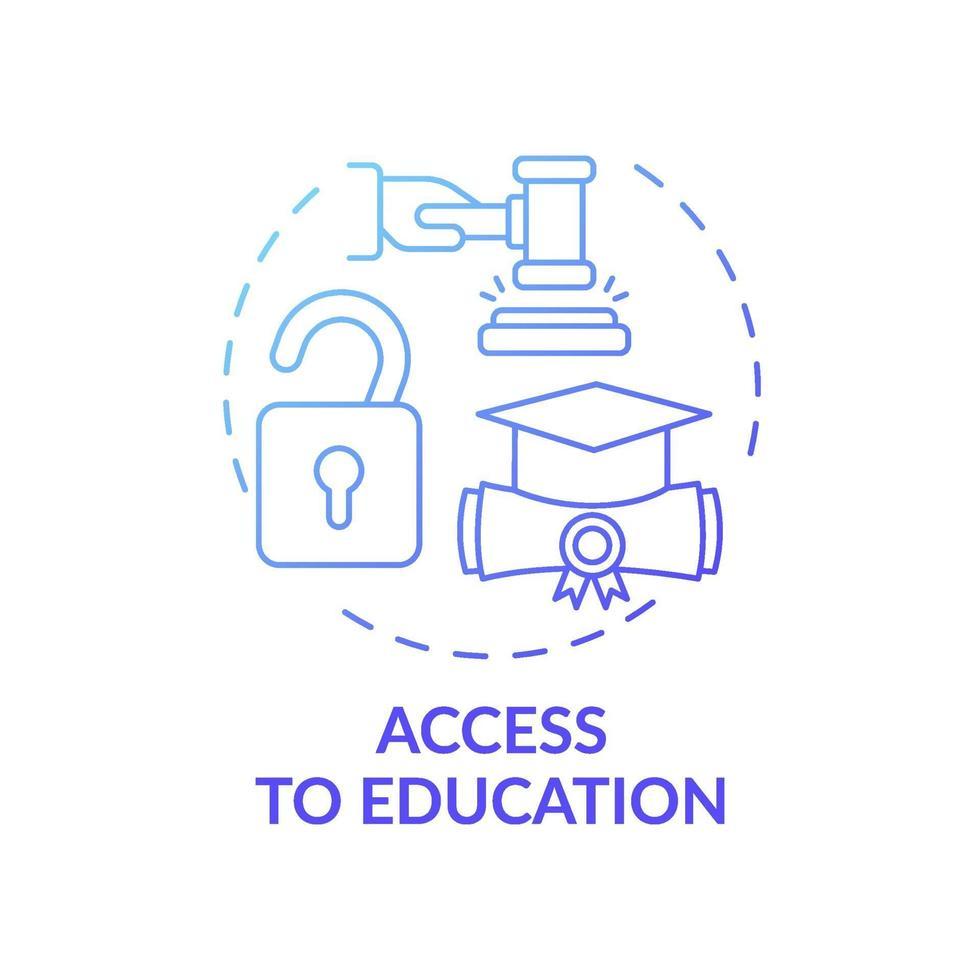 acesso ao ícone do conceito de educação vetor