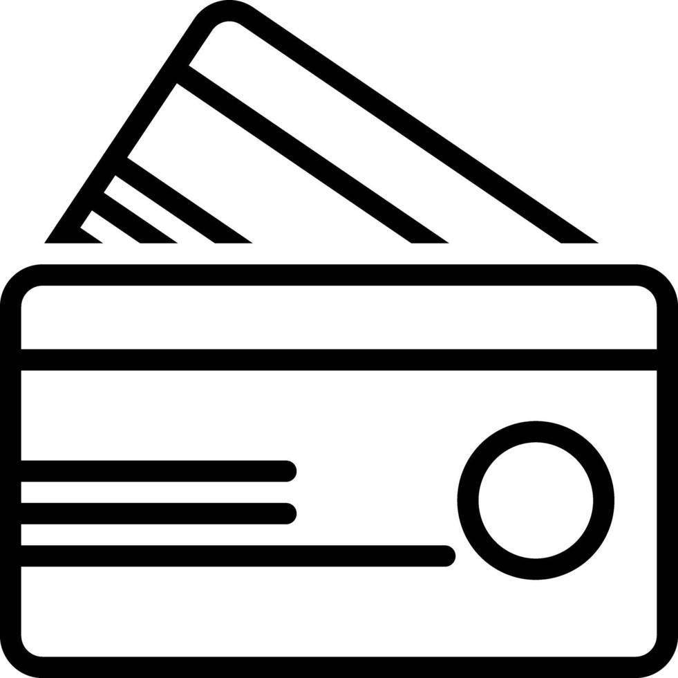 ícone de linha para crédito vetor