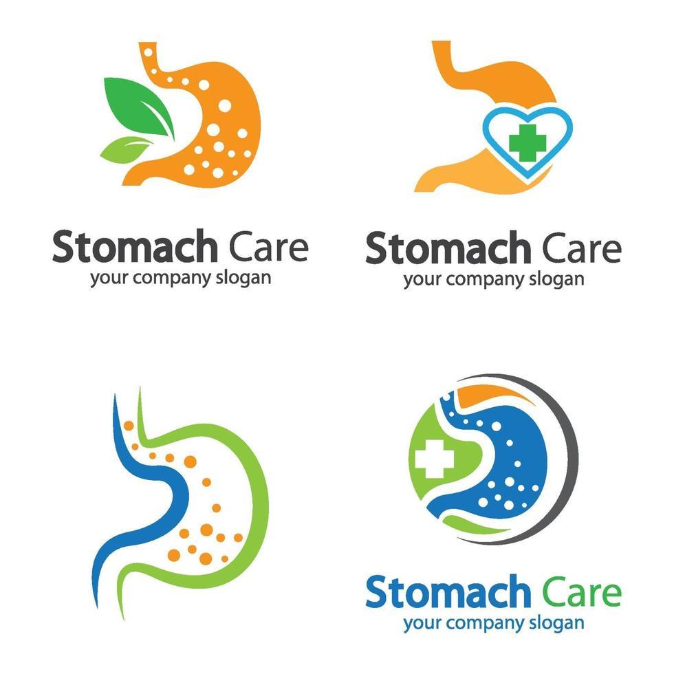 ilustração das imagens do logotipo do estômago vetor