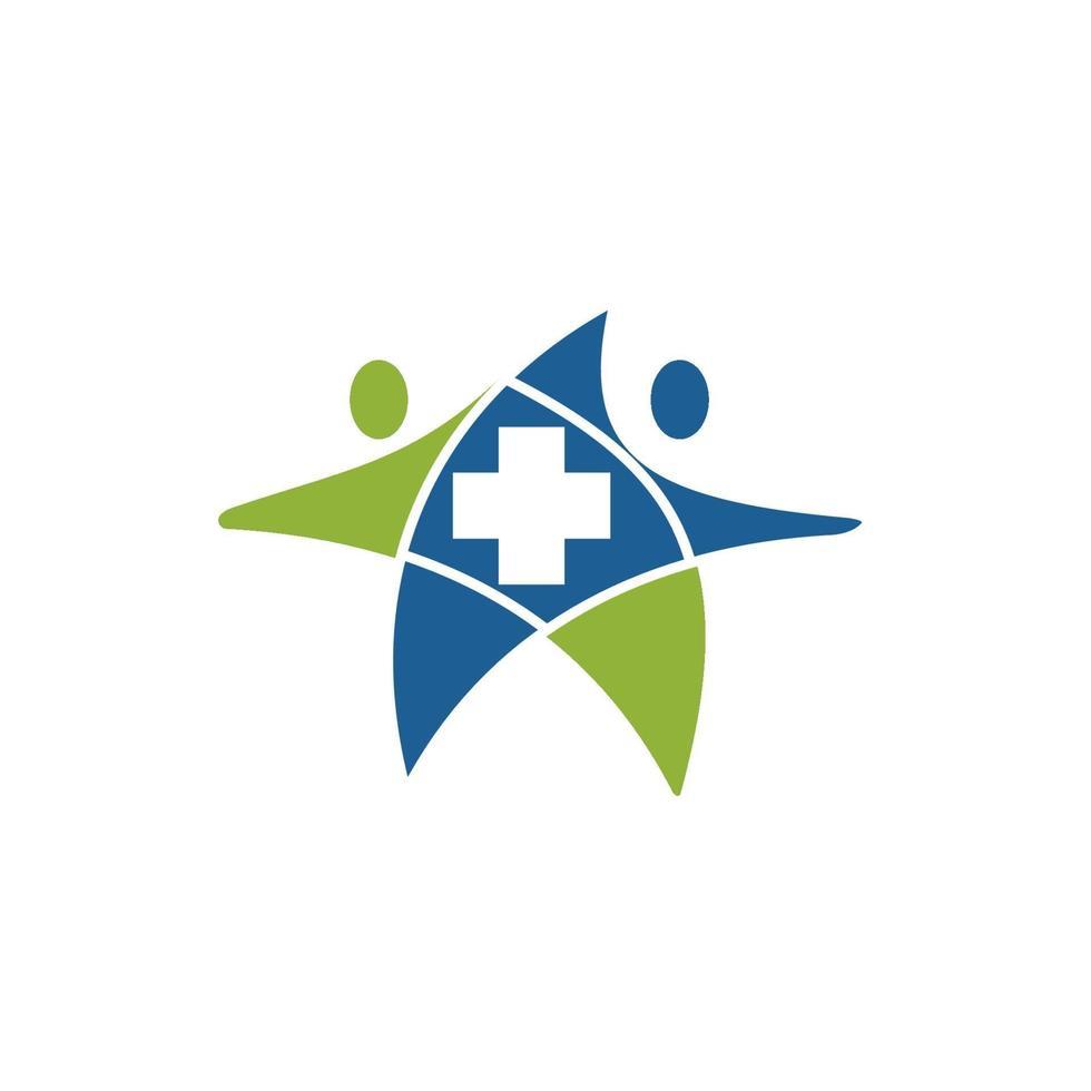 cruz de símbolo do símbolo do ícone médico de cuidados de saúde vetor