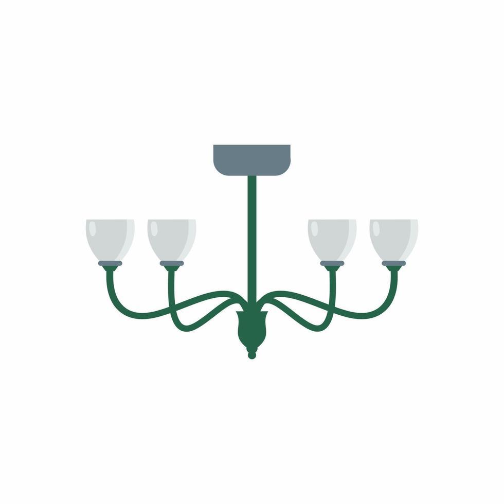 lâmpada de teto de móveis em ícones planas dos desenhos animados. elementos de design de uma decoração de interiores moderna. luz em casa com objeto de lâmpada isolado no fundo branco. conceito de luz estética. ilustração vetorial vetor