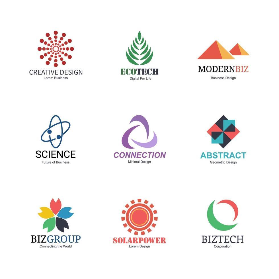 design de logotipo abstrato vetor
