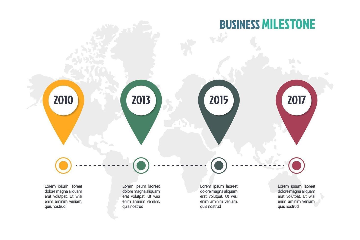 modelo de infográfico mínimo de negócios vetor