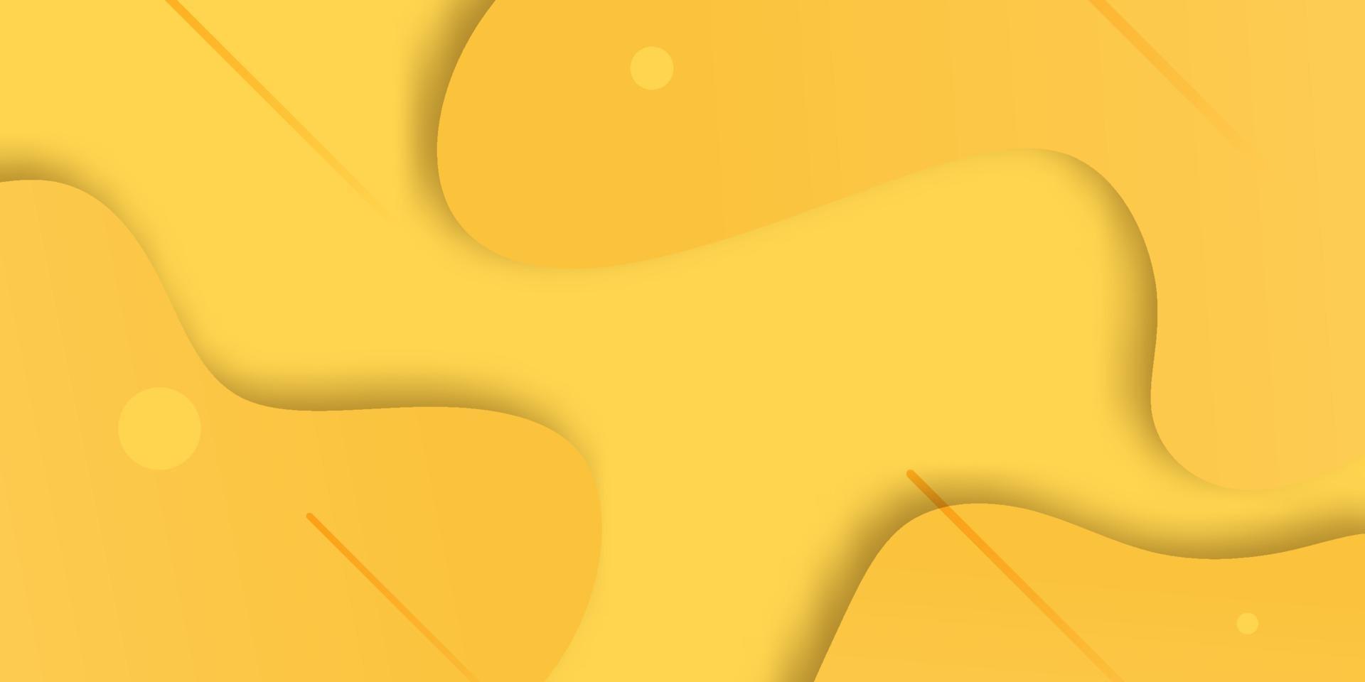 fundo gradiente de forma geométrica com elemento de fluido amarelo abstrato vetor