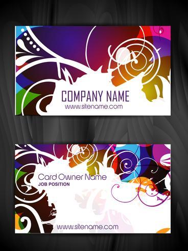 design de cartão de visita de estilo floral vetor