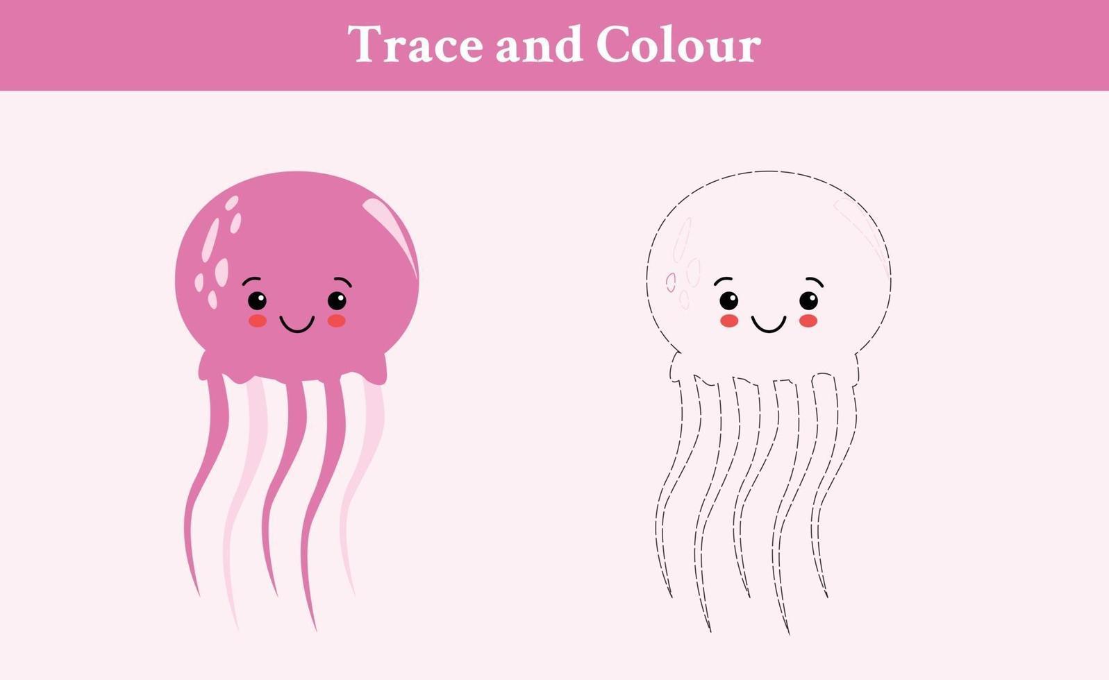 vetor livre de traços e cores de água-viva
