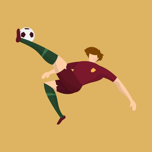 Bola de tiro liso do jogador de futebol de Portugal com ilustração alaranjada do vetor do fundo