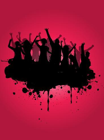 Fundo de festa do grunge vetor