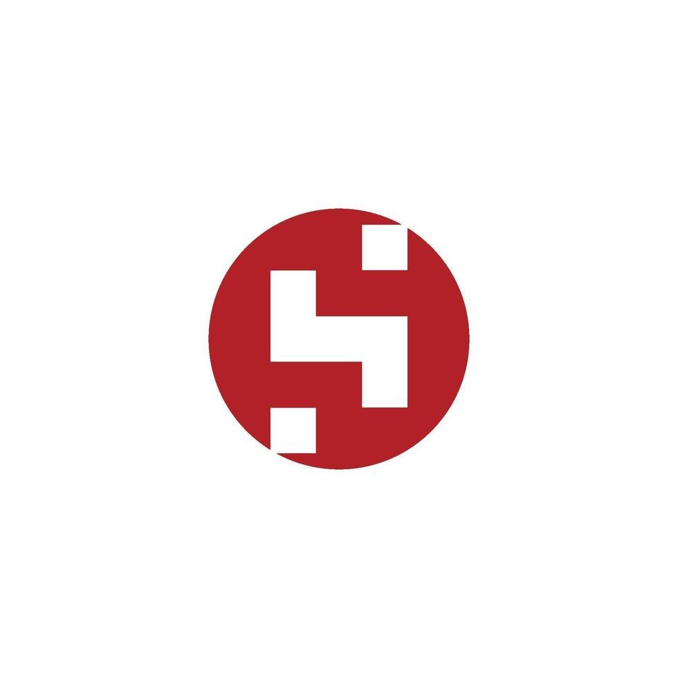 ilustração em vetor hs letter logo template design