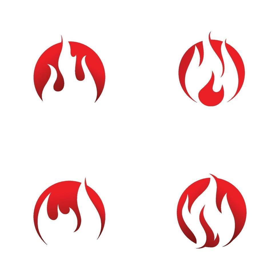 modelo de vetor de design de logotipo de chama de fogo