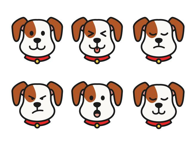 Emoções do cão vetor
