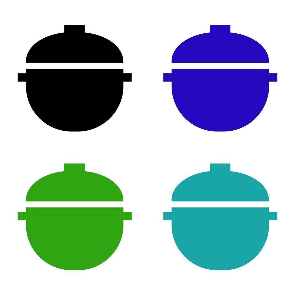 ícone de panela isométrica no fundo vetor