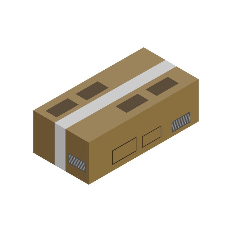 ícone do pacote isométrico no fundo vetor
