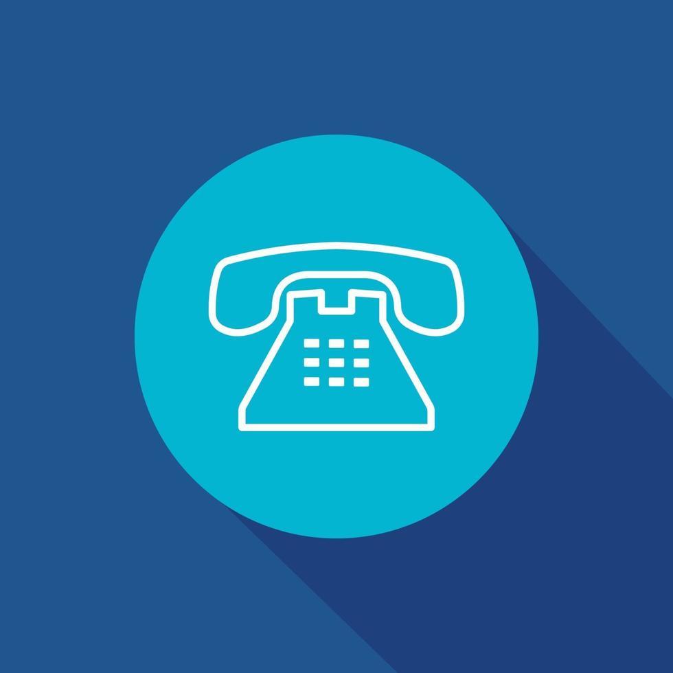 ícone de vetor de telefone do escritório. negócios, telefone, comunicação, símbolo de chamada isolado.