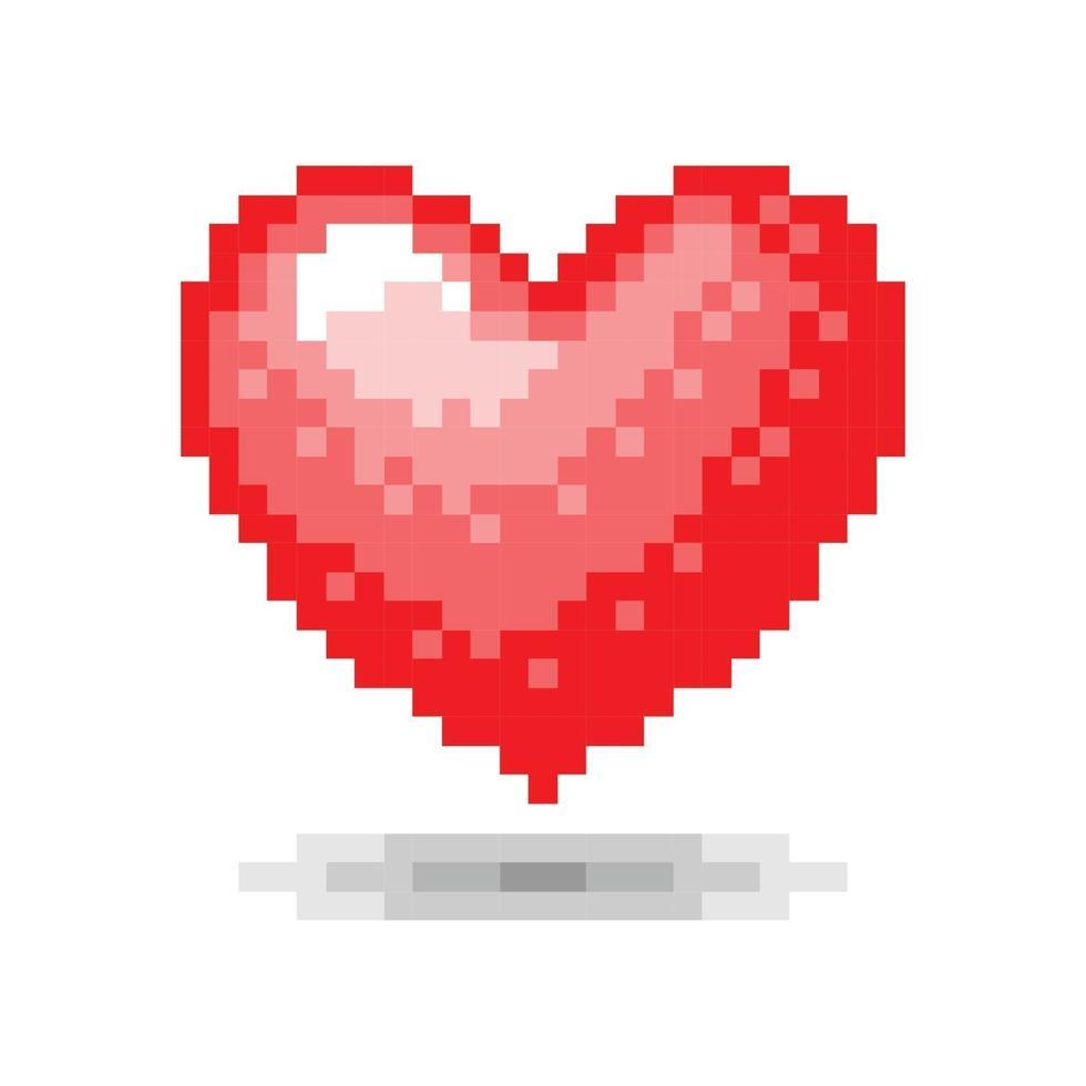 conceito de pixel de coração. ilustração vetorial vetor