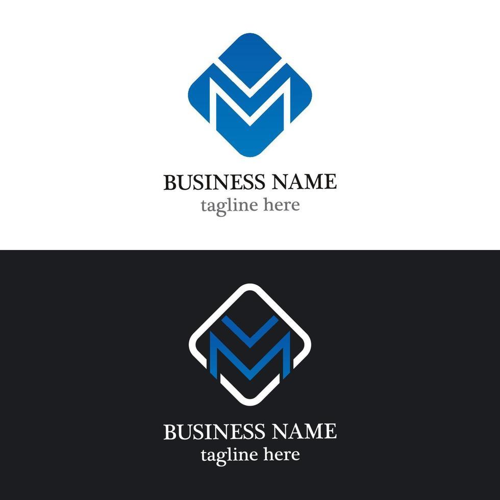 modelo de logotipo comercial de carta m vetor
