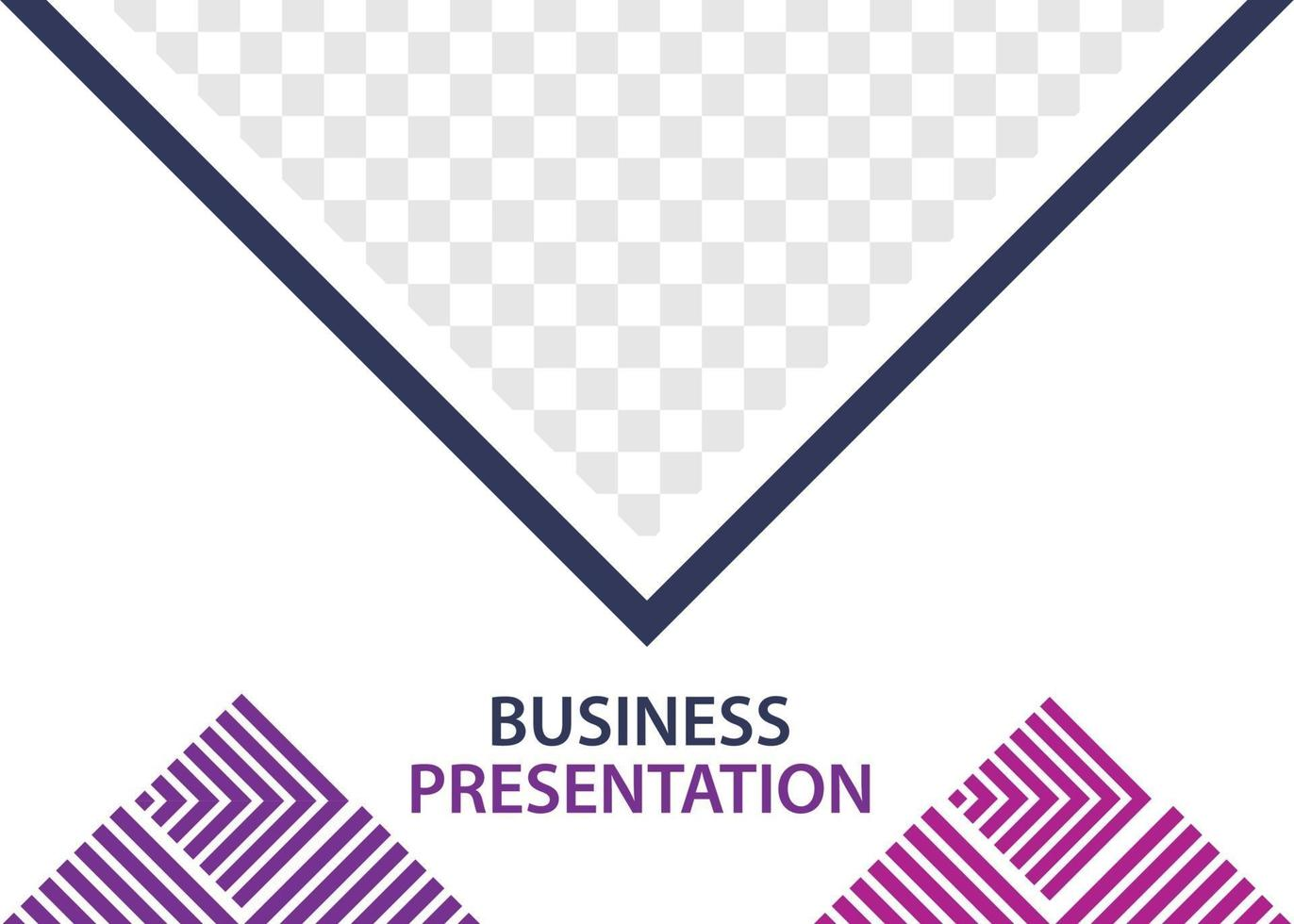 modelo de design de apresentação de negócios. perfeito para brochuras, promoção de marketing, infográficos, etc. vetor