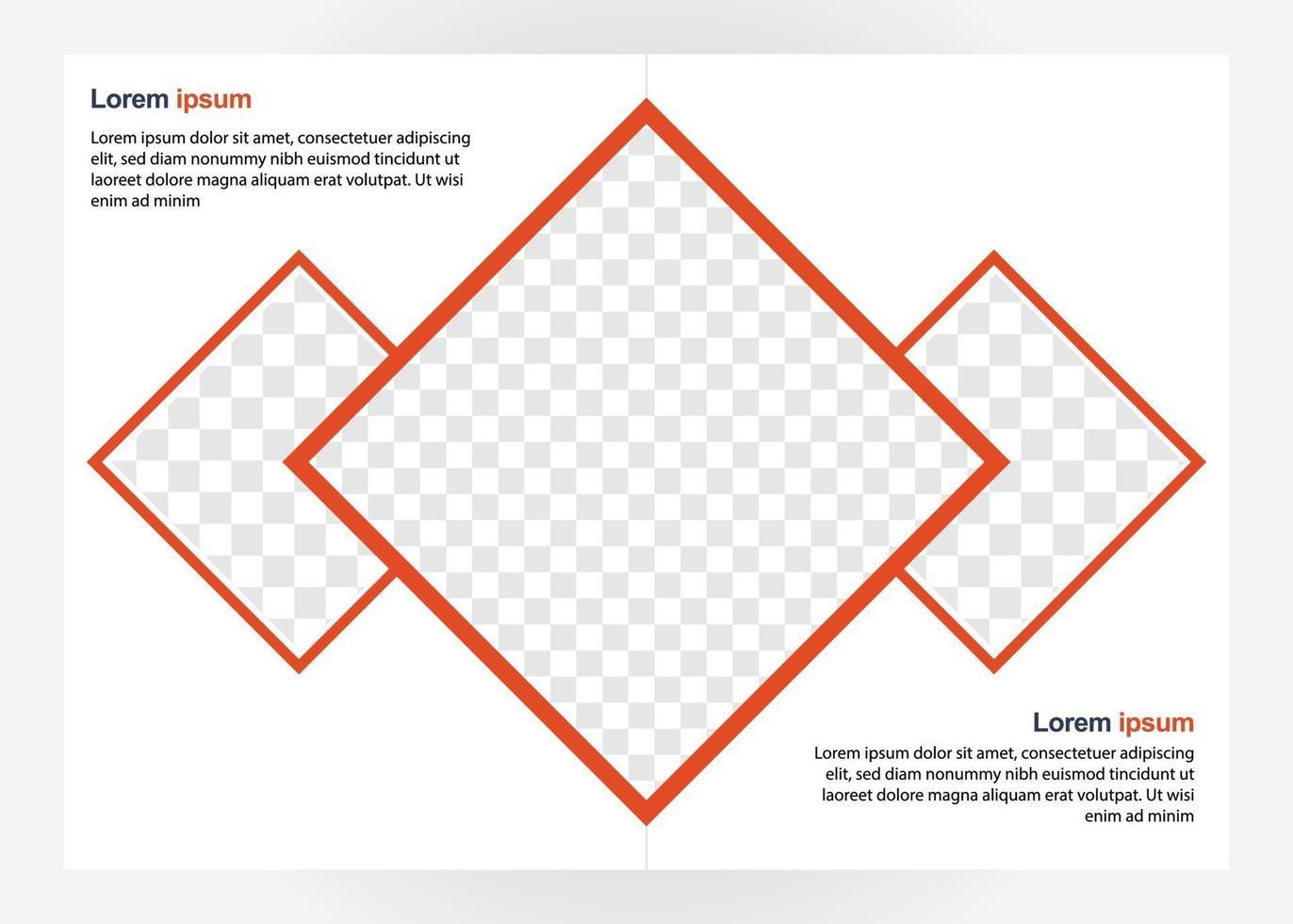 modelo de design de brochura de negócios. perfeito para brochuras, promoção de marketing, apresentação, etc. vetor