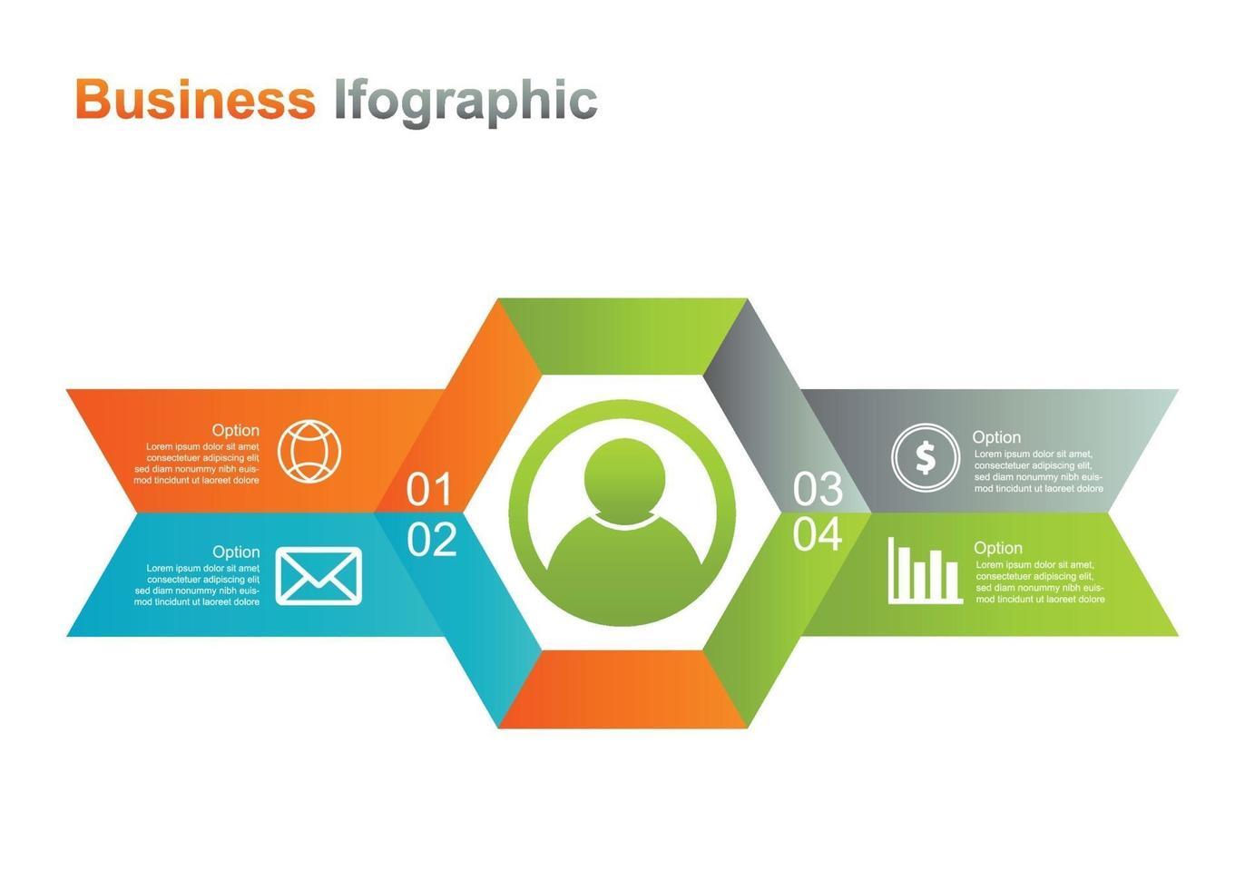 modelo de design infograpic de negócios. Ilustração em vetor infográfico 4 opções. perfeito para marketing, promoção, elemento de design de apresentação