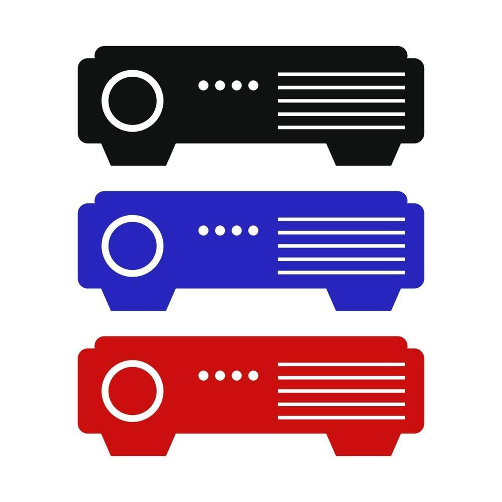 ícone do projetor no fundo vetor