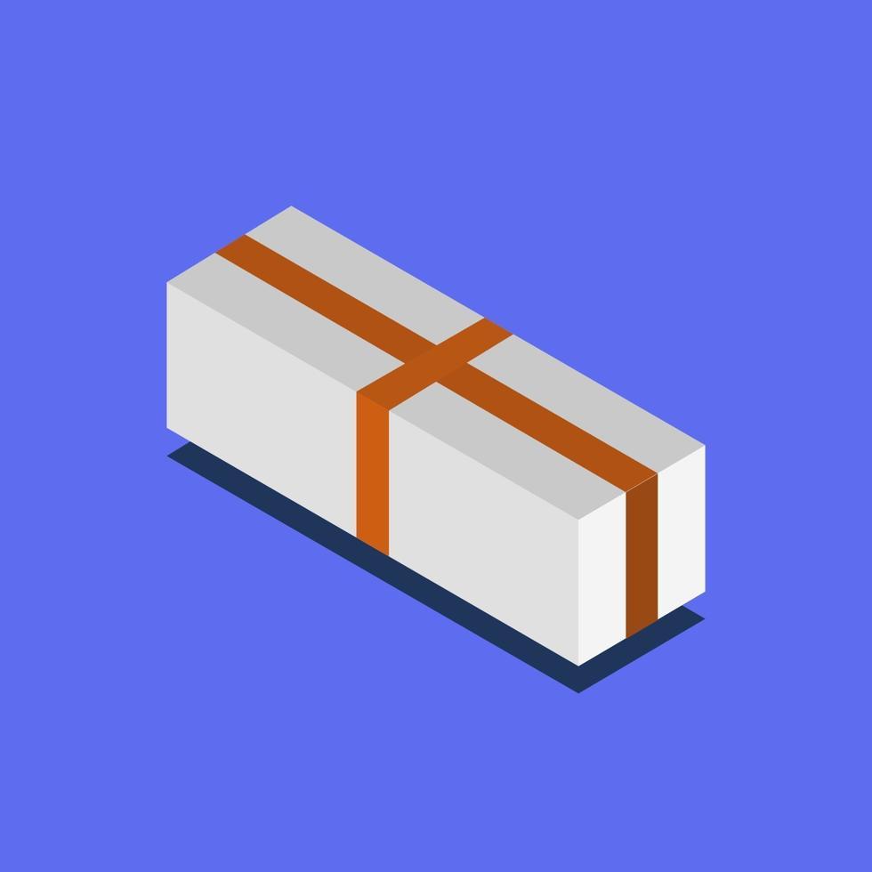 ícone de presente no fundo vetor