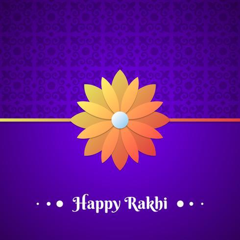 Bela tradicional Rakhi Floral Design decorado fundo vetor