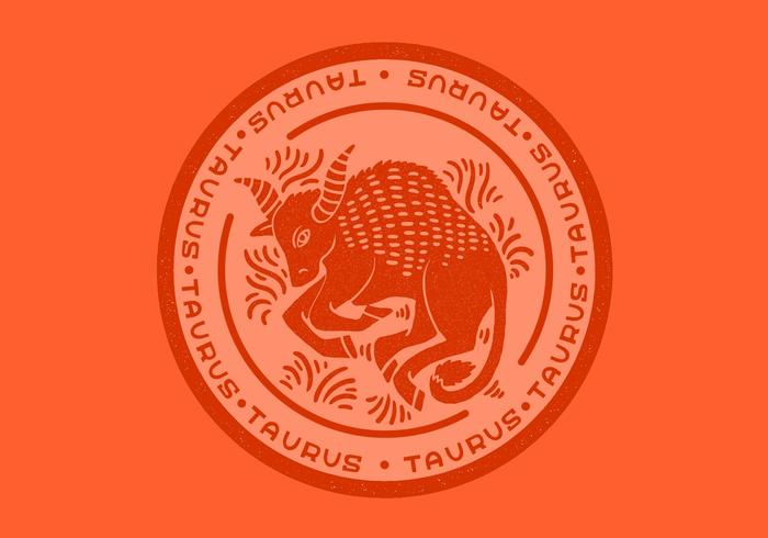 emblema do touro do zodíaco do taurus vetor