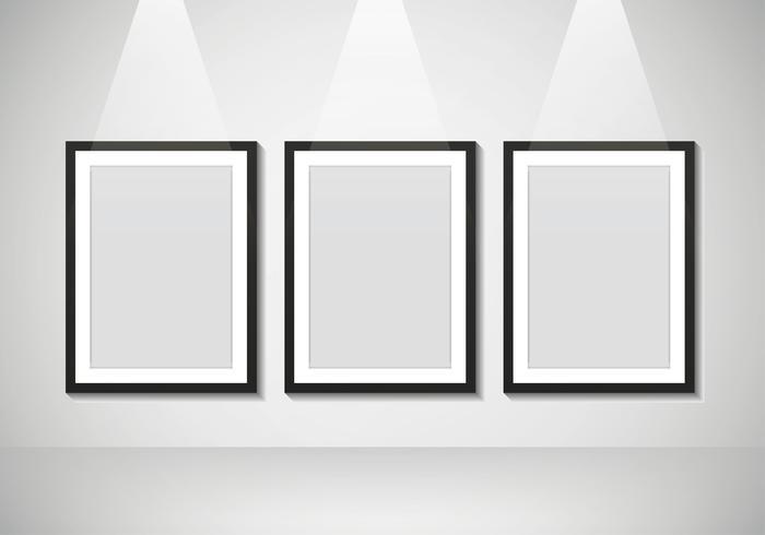 Maquete de pôster em branco para fotos vetor