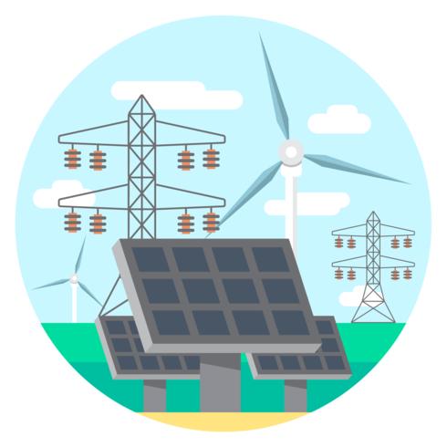 Energia verde vetor