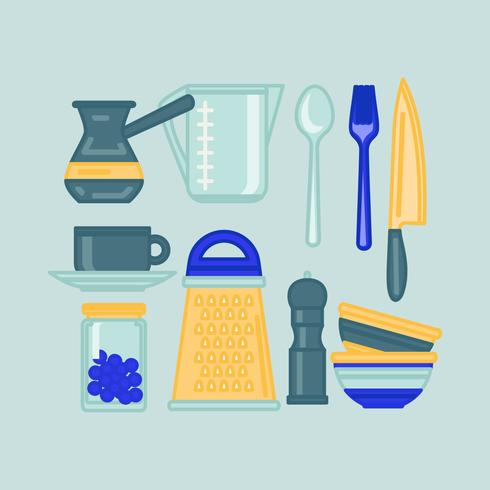 Utensílios de cozinha de vetor