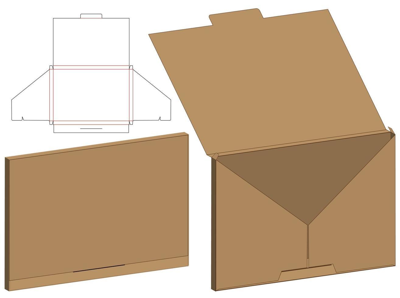 envelope cortado mock up ilustração vetorial de modelo. vetor