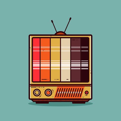 Vetor de aparelho de televisão retrô