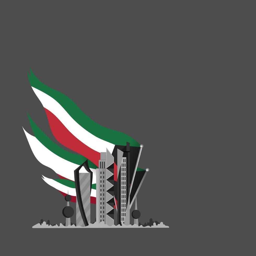 celebração do dia nacional de Kuwait vetor