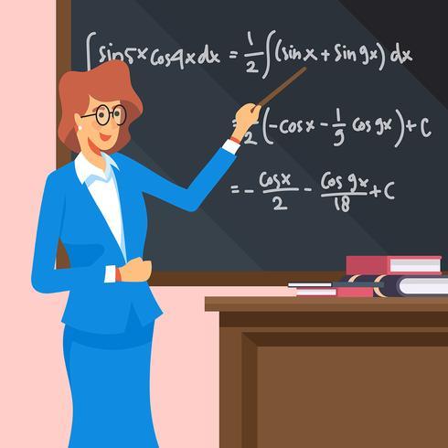 Ilustração de professor de matemática vetor