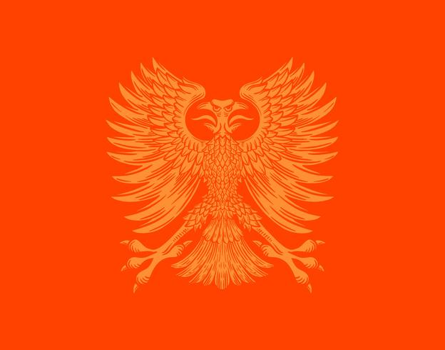 brasão do pássaro de phoenix vetor