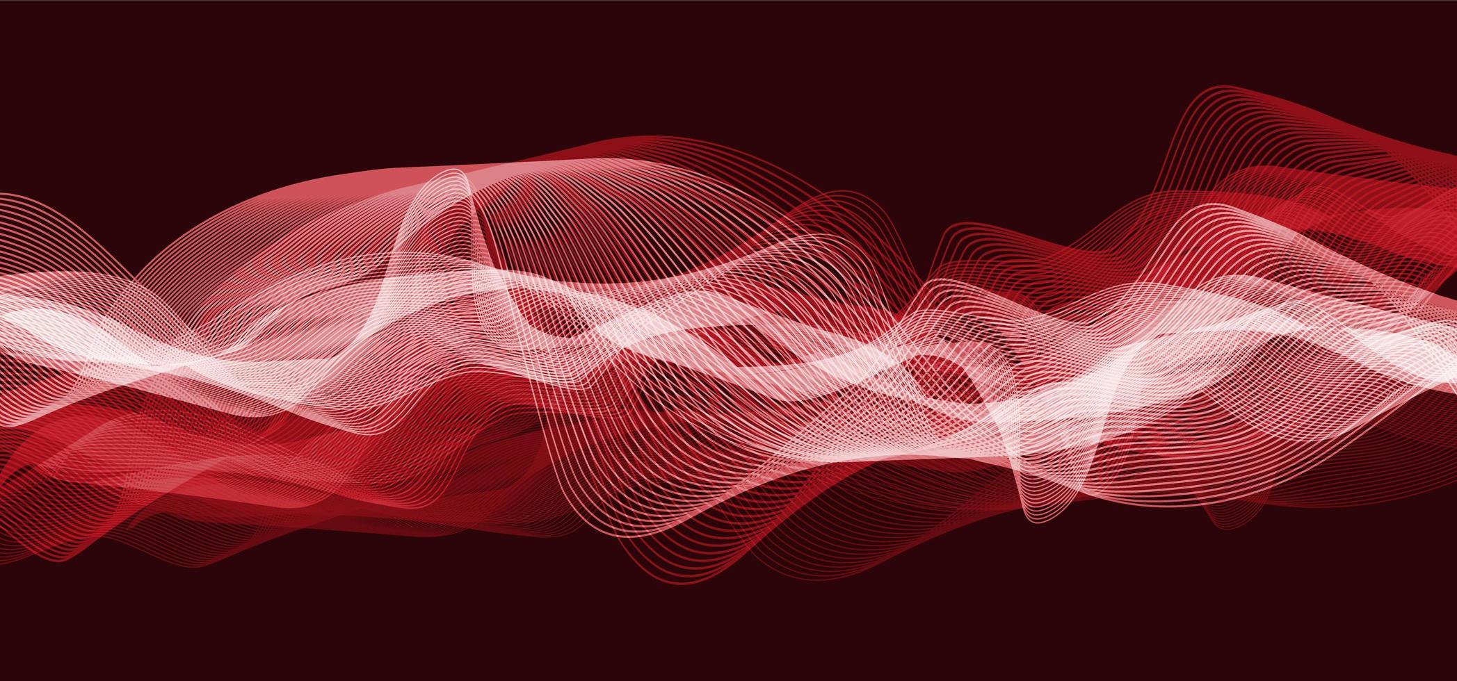 onda de som digital vermelho escuro escala de baixo e alto richter em fundo preto, tecnologia e diagrama de onda de terremoto e conceito de coração em movimento, design para estúdio de música e ciência, ilustração vetorial. vetor