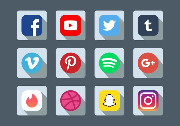 conjunto de ícones de mídias sociais vector