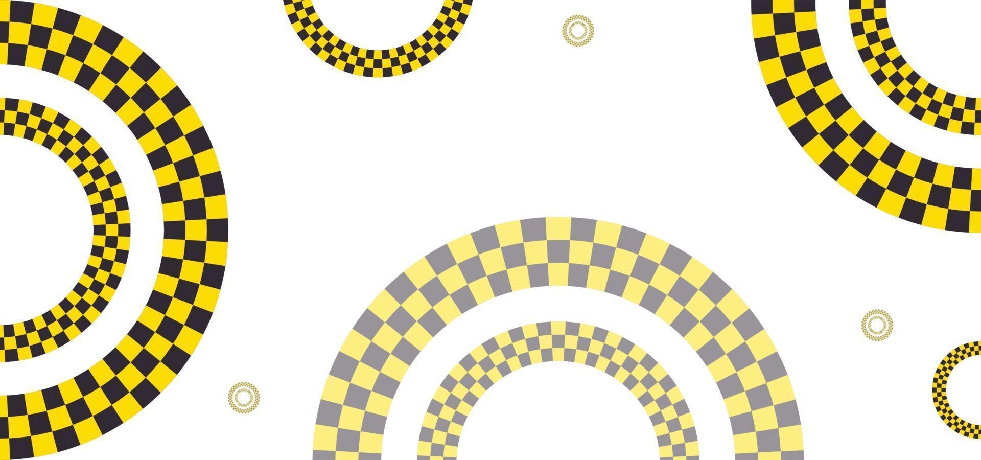 formas geométricas de fundo de estilo de estrada ou banner vetor