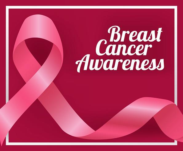Ilustração de fita de conscientização de câncer de mama vetor