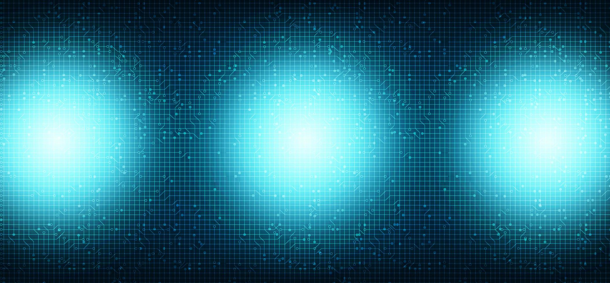 luz azul no fundo de tecnologia vetor