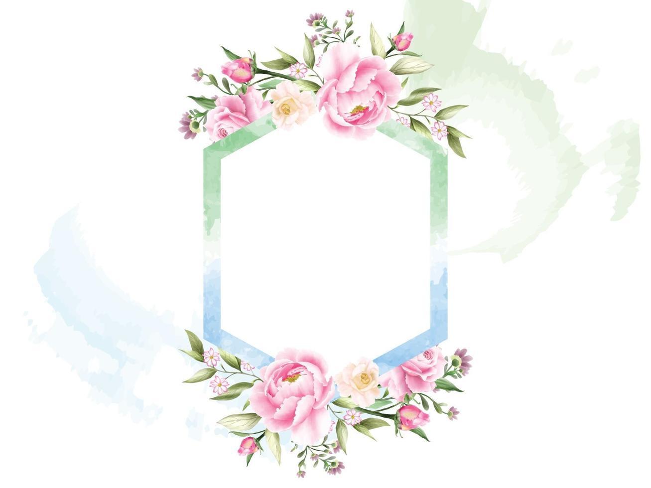 fundo aquarela floral romântico vetor