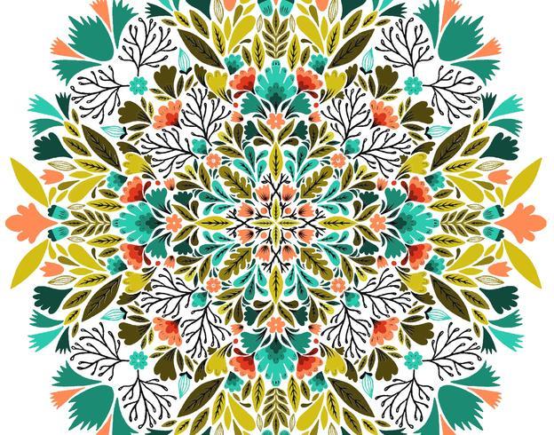teste padrão floral simétrico vetor