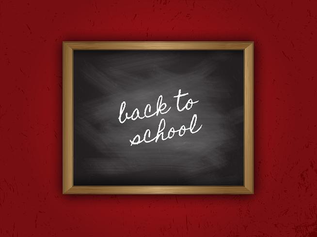 De volta ao quadro da escola vetor