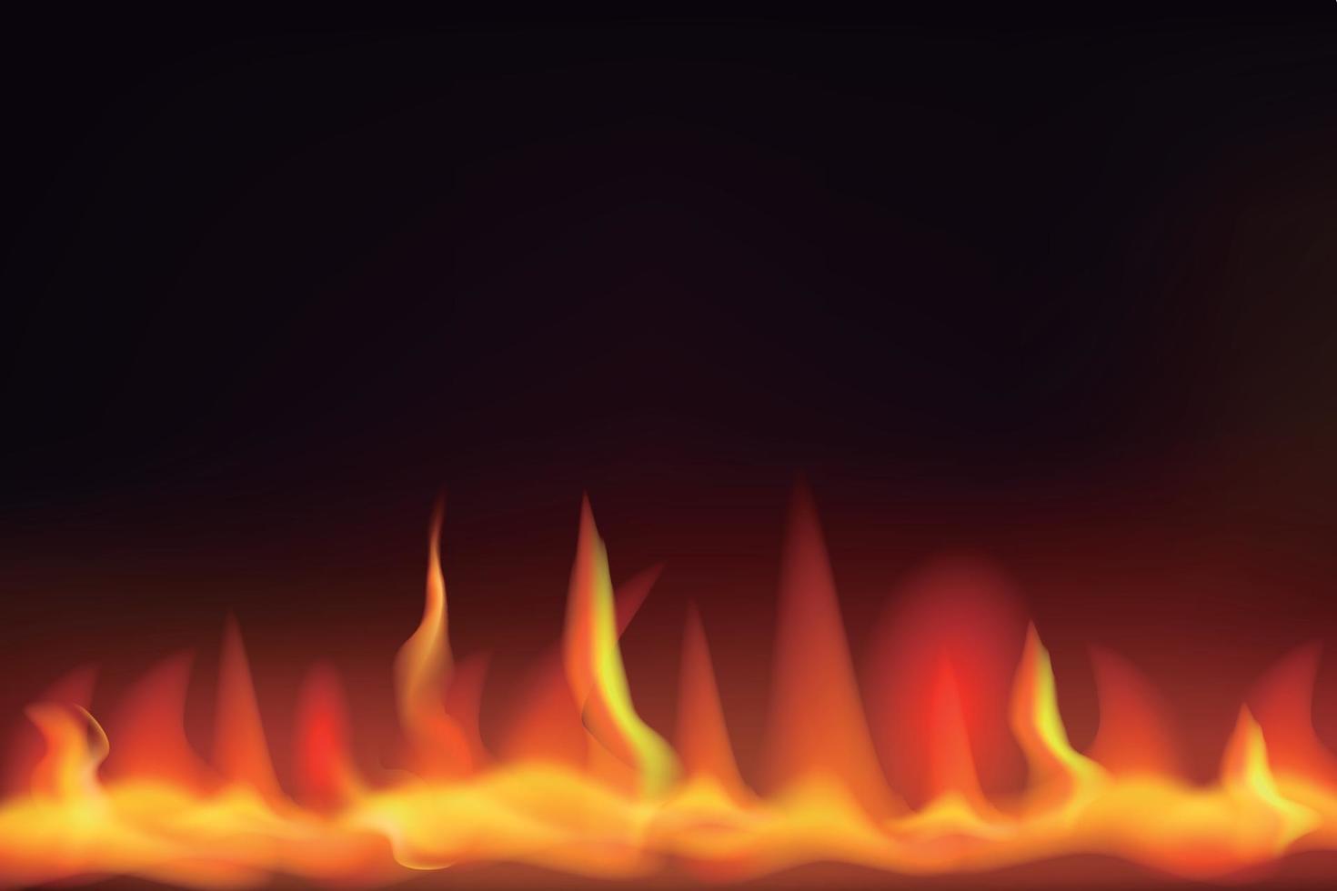 fundo de chamas de fogo vetor
