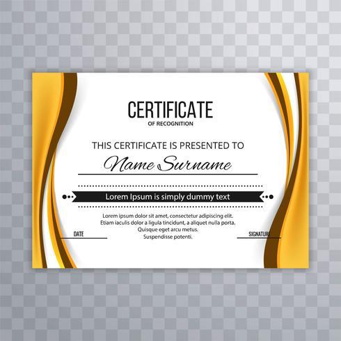Fundo elegante elegante moderno certificado de onda vetor