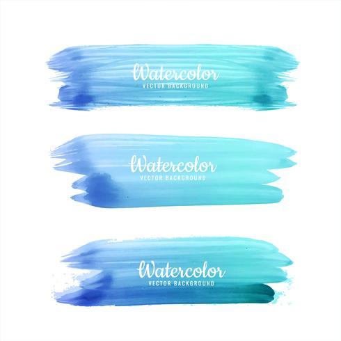 Fundo abstrato curso de aquarela azul vetor